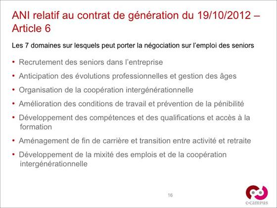ANI Contrat de génération - article 6